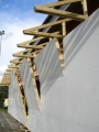 high specification timber construction - outdoor climbing wall